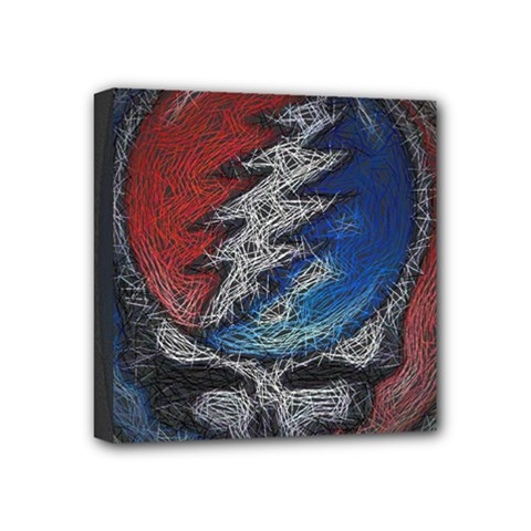 Grateful Dead Logo Mini Canvas 4  X 4