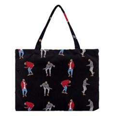 Hotline Bling Black Background Medium Tote Bag by Samandel