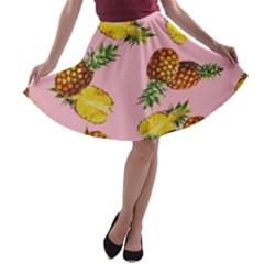 Pineapple A Line Skater Skirt