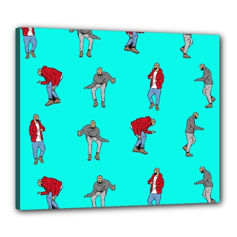 Hotline Bling Blue Background Canvas 24  X 20