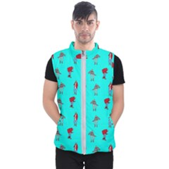 Hotline Bling Blue Background Men s Puffer Vest