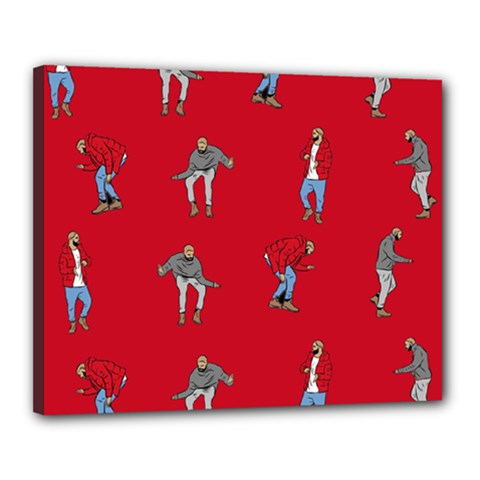 Hotline Bling Red Background Canvas 20  X 16