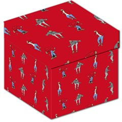 Hotline Bling Red Background Storage Stool 12