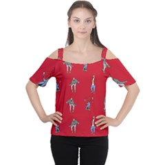 Hotline Bling Red Background Cutout Shoulder Tee