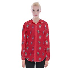 Hotline Bling Red Background Womens Long Sleeve Shirt