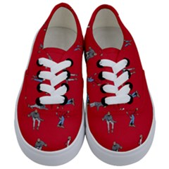 Hotline Bling Red Background Kids  Classic Low Top Sneakers