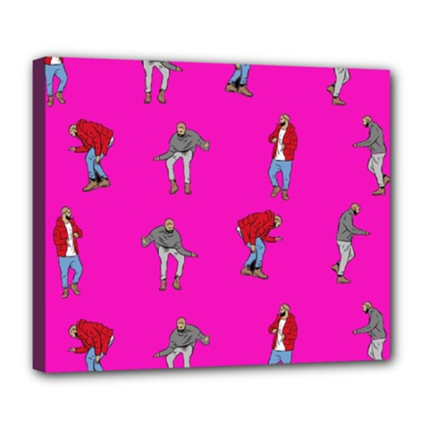 Hotline Bling Pink Background Deluxe Canvas 24  X 20