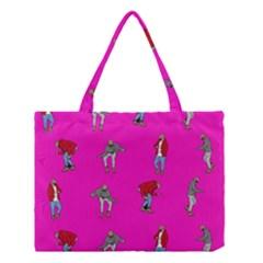 Hotline Bling Pink Background Medium Tote Bag by Samandel