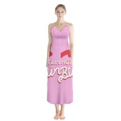 Hotline Bling Button Up Chiffon Maxi Dress