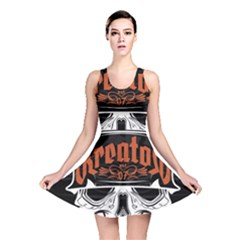 Kreator Thrash Metal Heavy Hard Rock Skull Skulls Reversible Skater Dress