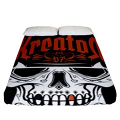 Kreator Thrash Metal Heavy Hard Rock Skull Skulls Fitted Sheet (queen Size) by Samandel