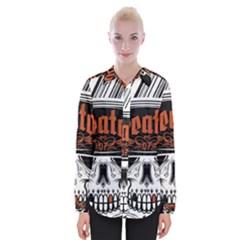 Kreator Thrash Metal Heavy Hard Rock Skull Skulls Womens Long Sleeve Shirt