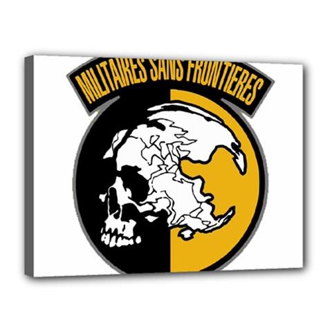 Metal Gear Solid Skull Skulls Canvas 16  X 12