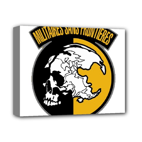 Metal Gear Solid Skull Skulls Deluxe Canvas 14  X 11