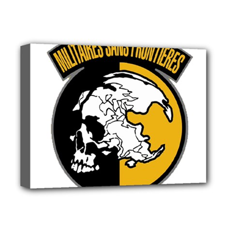 Metal Gear Solid Skull Skulls Deluxe Canvas 16  X 12