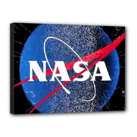 Nasa Logo Canvas 16  X 12