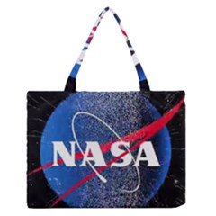 Nasa Logo Zipper Medium Tote Bag