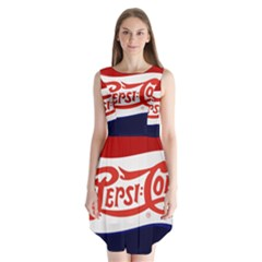 Pepsi Cola Cap Sleeveless Chiffon Dress