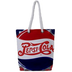 Pepsi Cola Cap Full Print Rope Handle Tote (small)