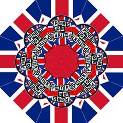 Punk Not Dead Music Rock Uk United Kingdom Flag Straight Umbrellas