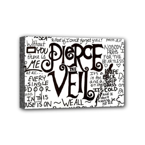 Pierce The Veil Music Band Group Fabric Art Cloth Poster Mini Canvas 6  X 4  by Samandel