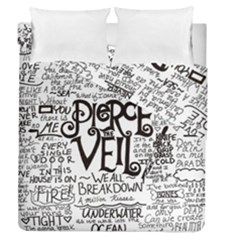 Pierce The Veil Music Band Group Fabric Art Cloth Poster Duvet Cover Double Side (queen Size) by Samandel