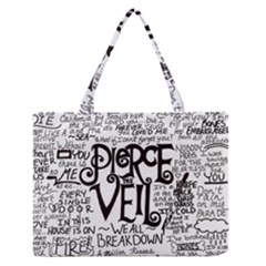 Pierce The Veil Music Band Group Fabric Art Cloth Poster Zipper Medium Tote Bag by Samandel