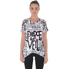 Pierce The Veil Music Band Group Fabric Art Cloth Poster Cut Out Side Drop Tee