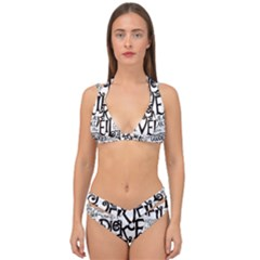 Pierce The Veil Music Band Group Fabric Art Cloth Poster Double Strap Halter Bikini Set by Samandel