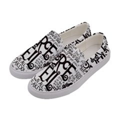 Pierce The Veil Music Band Group Fabric Art Cloth Poster Women s Canvas Slip Ons by Samandel