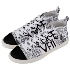 Pierce The Veil Music Band Group Fabric Art Cloth Poster Men s Mid Top Canvas Sneakers by Samandel