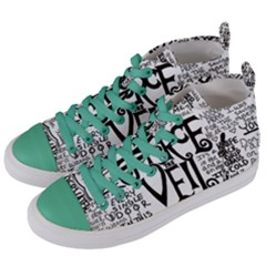 Pierce The Veil Music Band Group Fabric Art Cloth Poster Women s Mid Top Canvas Sneakers by Samandel