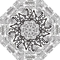 Pierce The Veil Music Band Group Fabric Art Cloth Poster Hook Handle Umbrellas (medium) by Samandel