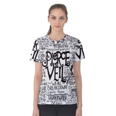Pierce The Veil Music Band Group Fabric Art Cloth Poster Women s Cotton Tee