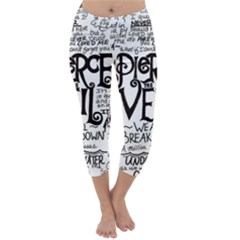 Pierce The Veil Music Band Group Fabric Art Cloth Poster Capri Winter Leggings