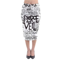 Pierce The Veil Music Band Group Fabric Art Cloth Poster Midi Pencil Skirt by Samandel