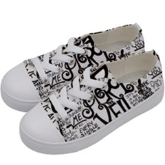 Pierce The Veil Music Band Group Fabric Art Cloth Poster Kids  Low Top Canvas Sneakers by Samandel