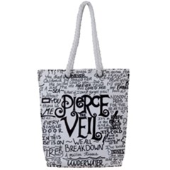 Pierce The Veil Music Band Group Fabric Art Cloth Poster Full Print Rope Handle Tote (small) by Samandel