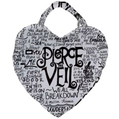 Pierce The Veil Music Band Group Fabric Art Cloth Poster Giant Heart Shaped Tote by Samandel