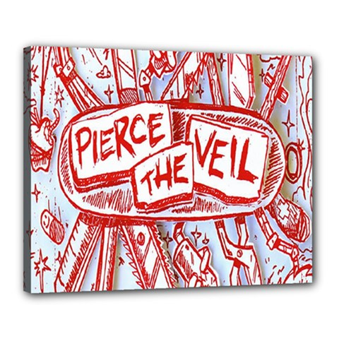 Pierce The Veil  Misadventures Album Cover Canvas 20  X 16