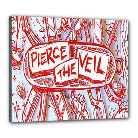 Pierce The Veil  Misadventures Album Cover Canvas 24  X 20  by Samandel