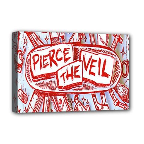 Pierce The Veil  Misadventures Album Cover Deluxe Canvas 18  X 12   by Samandel