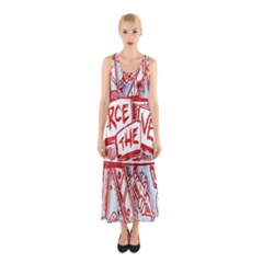 Pierce The Veil  Misadventures Album Cover Sleeveless Maxi Dress