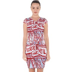 Pierce The Veil  Misadventures Album Cover Capsleeve Drawstring Dress  by Samandel