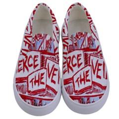 Pierce The Veil  Misadventures Album Cover Kids  Canvas Slip Ons