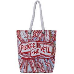 Pierce The Veil  Misadventures Album Cover Full Print Rope Handle Tote (small) by Samandel