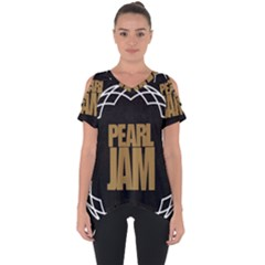 Pearl Jam Logo Cut Out Side Drop Tee