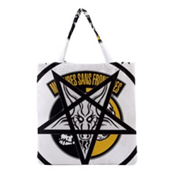 Satanic Warmaster Black Metal Heavy Dark Occult Pentagran Satan Grocery Tote Bag