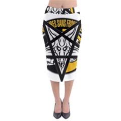 Satanic Warmaster Black Metal Heavy Dark Occult Pentagran Satan Midi Pencil Skirt