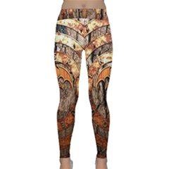 Queensryche Heavy Metal Hard Rock Bands Logo On Wood Classic Yoga Leggings